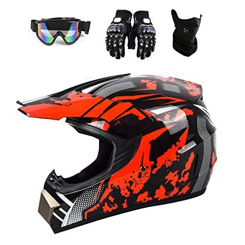 Casco unisex de motocross, casco de ciclismo de carretera, para descenso, para...