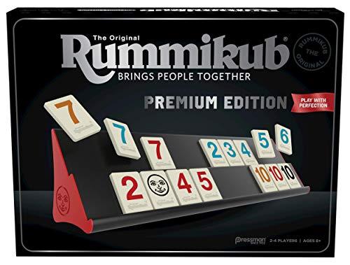 Rummikub Premium Edition by Pressman - The Original Rummy Tile Game, Silver (108647)
