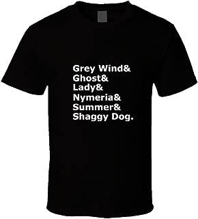 Get A New Tee Grey Wind& Ghost & Lady & Nymeria & Shaggy Dog Game of Thrones Tshirt