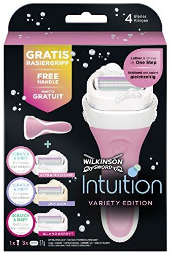 Wilkinson Sword Intuition Summer Variety Vorteilspack Rasierklingen mit Damen Rasierer, 3 St