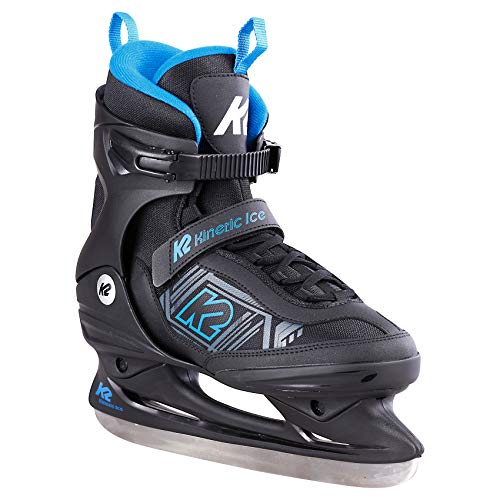 K2 Skates Herren Schlittschuhe Kinetic Ice M — Black - Blue — EU: 47 (UK: 11.5 / US: 12.5) — 25E0230