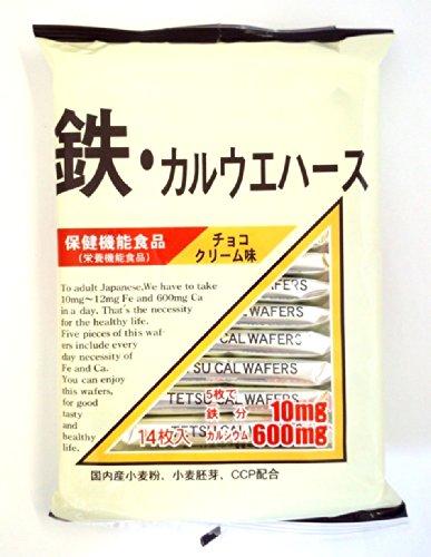 三浦製菓 鉄カルウエハース 14枚 [0756]