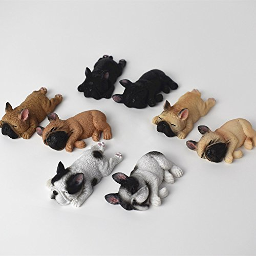 GlobalDeal Cute Sleeping Dog Fridge Magnetic Sticker French Bulldog Mini Toy Magnet Decor -1Pc Random Color
