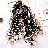 Bufanda De Invierno De Marca De Lujo para Mujer, Mantones Suaves Y Bufandas Hijab Musulmán Estampado 180X90Cm 04