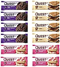 Quest Nutrition Protein Bar Choco Mix-Up Variety Pack. Low Carb Meal Replacement Bar with over 20 gram Protein. High Fiber...