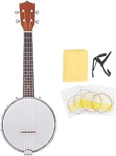 Dilwe Banjo de 4 Cuerdas Set, 4-String Banjo con Cuerdas