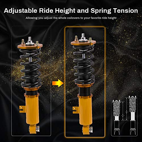 Adjustable Height Coilovers for Nissan Fairldy Z 300ZX Z32 1990-1996 Suspension Coil Spring Lowering Shocks Strut