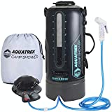 AQUATREK: Portable Camping Shower THE BEST BPA-Free Camp Shower 3 Gal 10L PRESSURE Solar Shower for CAMPING SHOWERS with Hot Water from Sun, Portable Shower Camping Shower Bag with camping accessories