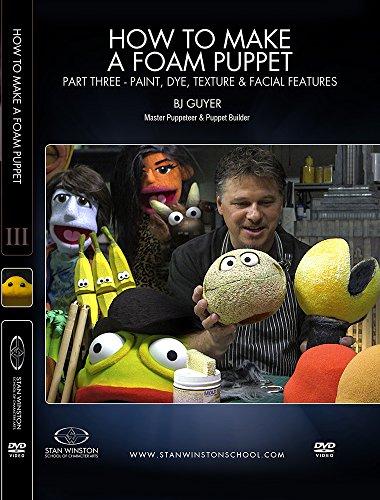 How to Make a Foam Puppet - Part 3 - Paint, Dye, Texture & Facial Features