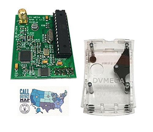 DVMEGA UHF Singleband DSTAR Radio for Raspberry Pi with DVMEGA Case and Ham Guides Pocket Reference Card Bundle! …