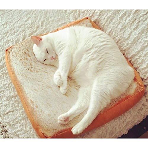 hanabiパン型ソファ ペット用ベット 食パン クッション マット ふわふわ 食パンソファベッド 食パン型座布団 (B)