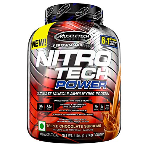 MuscleTech Performance Series Nitro Tech Power| 30g Protein |Post-Workout Protein Powder| With Creatine, BCAA & Testosterone...