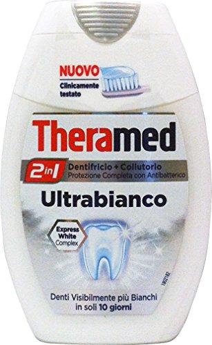 12 x THERAMED Dentifricio+Collutorio 2 In 1 Ultrabianco 75 Ml