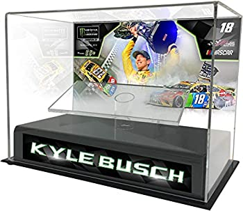 Kyle Busch 2019 Monster Energy NASCAR Cup Series Champion 1 24 Die Cast Display Case with Sublimated Plate - Nascar Display Cases Logo