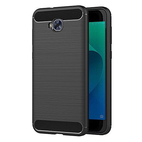 AICEK Cover ASUS Zenfone 4 Selfie ZD553KL, Nero Custodia Zenfone 4 Selfie ZD553KL Silicone Molle Black Cover per ASUS ZD553KL Soft TPU Case (5.5 Pollici)
