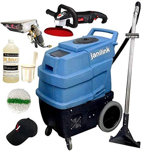 JaniLink Premium 500 PSI Portable Carpet Extractor Machine with 3 Vac Motors 6 Stages, 2 Heats,...