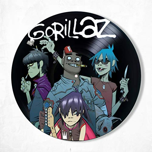 Gorillaz Vinyl Decor, Wall Decor Vinyl Painted Gorillaz, Original Gifts for Music Lovers, Original Gift for Home Decor