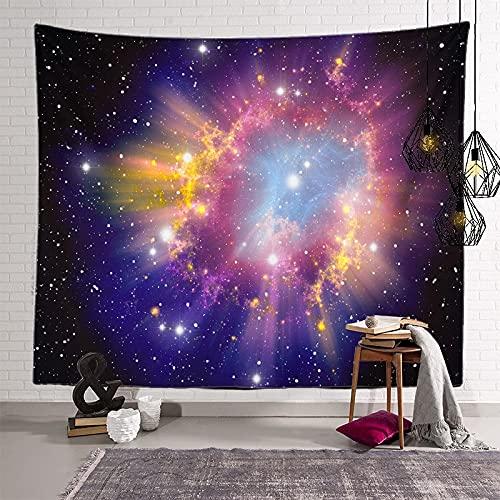 KHKJ Astronaut Planet Tapiz cabecero de Pared Arte Colcha Dormitorio Tapiz para Sala de Estar Dormitorio decoración del hogar A17 95x73cm