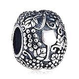 Charm in argento Sterling 925, con motivo a forma di vino, per braccialetti Pandora