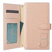 Galaxy S10+ S10 Plus ケース 手帳型 猫 オリジナル ネコ モチーフ ベルトあり マグネット カバー (ピンク) SIMフリー
