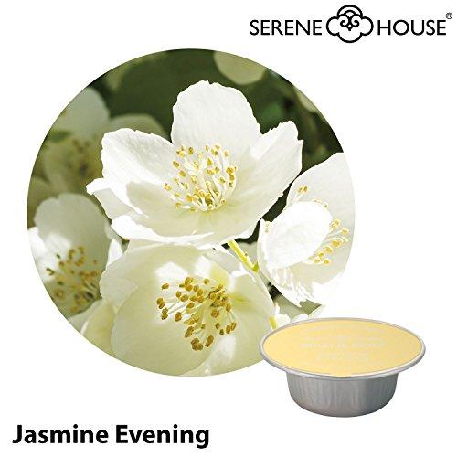 serene house wachs pod 4g - Jasmine Evening 6er Pack - Duftkapsel Wachskapsel für Serene Pod Auto Duftsystem JAZZ sowie Duftstecker TORCH und GRAIL (kleine Kapseln) - Jasmin