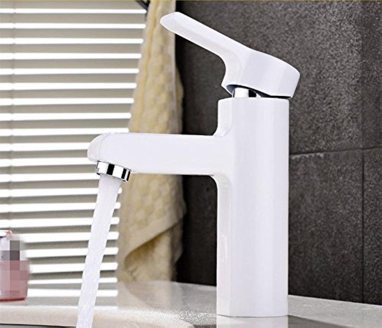 ETERNAL QUALITY Badezimmer Waschbecken Wasserhahn Messing Hahn Waschraum Mischer Mischbatterie Das Kupfer kalt Wasserhahn Waschbecken Wasserhahn wei,schwarz Weiss Tippen