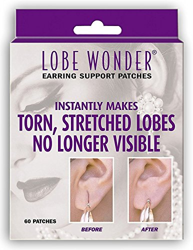 Lobe Wonder Ear Repair Earring Support Patches 60 Count (Pack of 2)