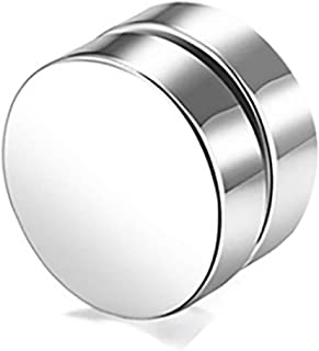 Stainless Steel Pierced Earrings, 10MM Round Magnet False Stud Earrings, Fashion Jewelry for Men and Women