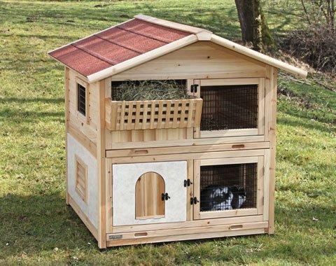 ドイツKerbl 大型木製ラビットケージ チロルアルパインラビットハウス ラビットホーム【うさぎ小屋 ラビットハウス】