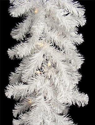New 9ft White Glacier Pine Christmas Garland Luxury Design