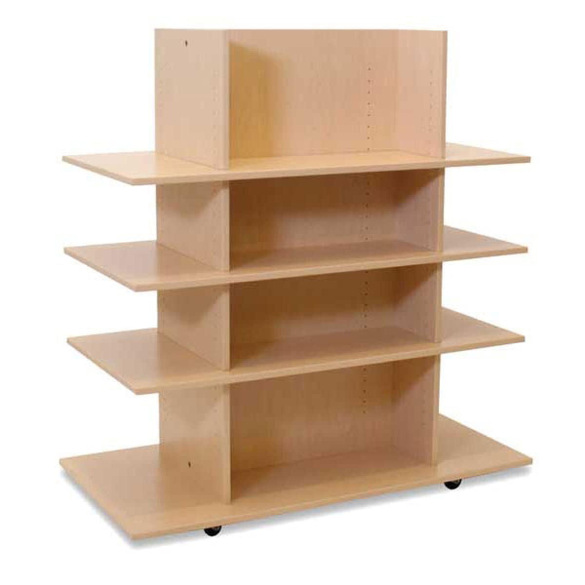 Mail order Merchandiser Knock Down Bargain sale with 3 Maple Shelves D W x 52.5 24 48
