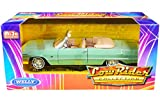 1963 Chevy Impala Convertible Light Green Low Rider Collection 1/24 Diecast Model Car by Welly 22434