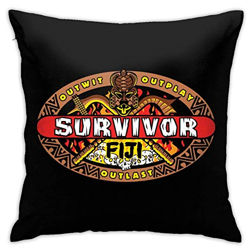 XCNGG Kissenbezug Survivor Pattern Pillow Covers Cushion Cover Cases Pillowcases Sofa Couch Bed Home Decor 18'X 18'Inch (45 X 45 cm)