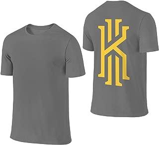 Men's Kyrie K Irving Logo Summer T Shirt T-Shirt Summer Short-Sleeve Crew Neck Tee Shirts Cotton Clothes Black