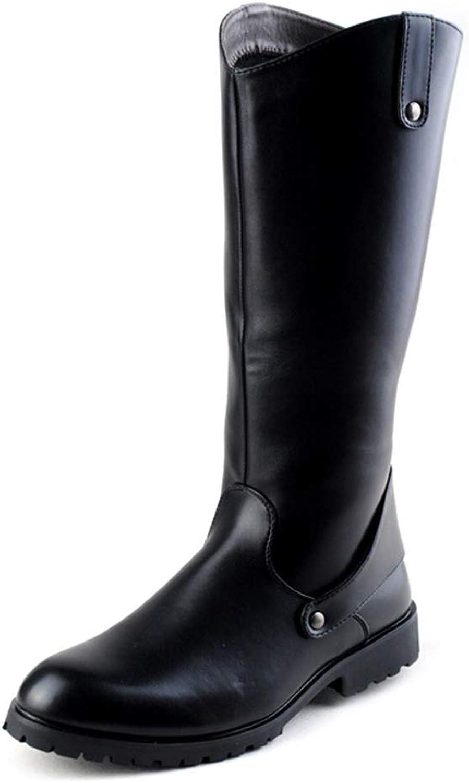 DorisAA Chukka-Stiefel für Herren Mode Motorradstiefel Retro Cowboy Style Style Style Reiten Knie hohe Stiefel Dschungelstiefel für Jungen (Farbe   Schwarz, Größe   44 EU)  008d1c