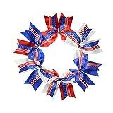 Toyvian 6 Stück Haarschleifen US Flag Haarband Haarband Kinder Mädchen Haarschmuck für Unabhängigkeit Tag 4. Juli