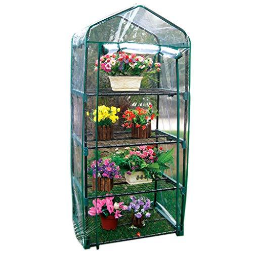 Serres de Jardin Tunnel de Patio - Mini Chaude à 4 Niveaux Portable Petite Plante Verte de Jardin en Plastique, 69 × 49 × 158 cm Tomate