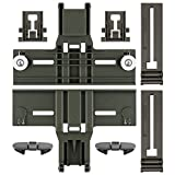 Upgraded Polymer Material W10350375 Dishwasher Top Rack Adjuster & W10195839 & W10195840 & W10508950 Dishwasher Part Compatible with Whirlpool Kenmore Kitchenaid Dishwasher, W/1.25 Inch Diameter Wheel