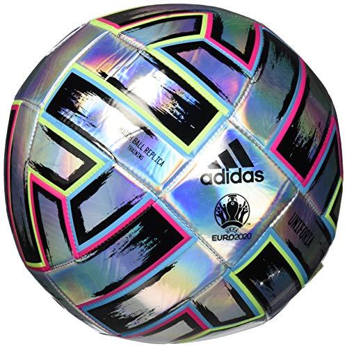 adidas Uniforia Training Soccer Ball Silver Metallic/Signal Green/Bright Cyan 5