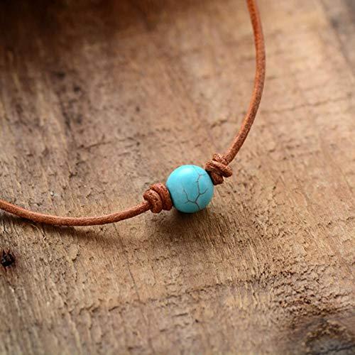 AQUALITYS Gargantillas Collares Piedra semipreciosa Collar Corto Mujer Collares de declaración Joyería