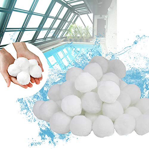 LZQ Filterbälle Filter Balls Filtermaterial 700g ersetzen 25 kg Filtersand Sandfilteranlage für Pool Sandfilter
