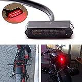 12V 6 LED Luz trasera de moto Luz de freno de parada de funcionamiento trasero universal Lámpara brillante