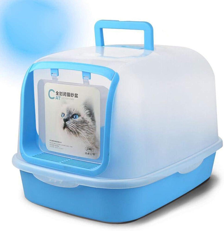 Daeou Pet toilet Folding cat Litter basin with cat litter cat toilet fully enclosed cat basin