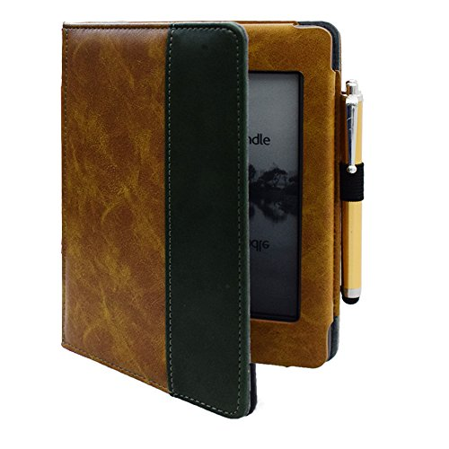 Flip Cover for Kindle Touch (2012 Old Model) case, Folio Soft Cover for D01200 Kindle Touch ebook Reader Book case Pouch Bag Sleeve (Brown)