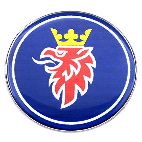 Insignia para capó SAAB de color azul, 63,5 mm,