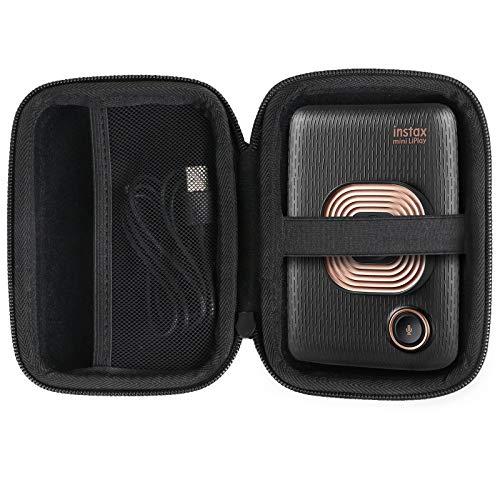 Khanka Hart Tasche Ersatz passt für Fujifilm Mini LiPlay hybrid Sofortbildkamera Elegant Black.