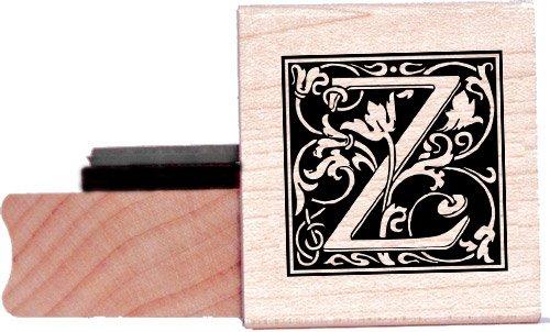 Tampon en caoutchouc alphabet - Lettre Z à la William Morris