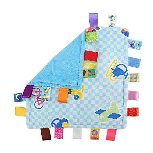 G-Tree bébé nourrisson Taggy Couverture Soft Touch en peluche sécurité colorée confortable taggie Presant Blue Car
