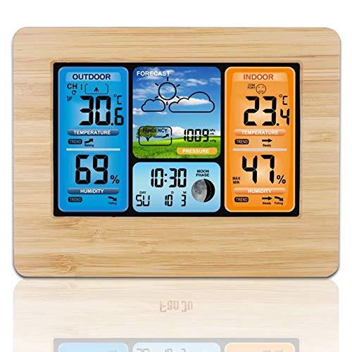 El Tiempo Estación Inalámbrica, Color De La Pantalla De Alarma del Reloj Alertas De Temperatura, De Humedad Al Aire Libre De Interior De La Temperatura del Monitor, Sensor Remoto