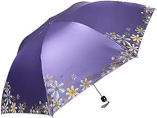 AUWANGAOFEI Black Plastic Anti-UV Sunscreen Portable Ultra Light Small Mini Rain Dual-use Sun Pencil Umbrella (Color : Purple)